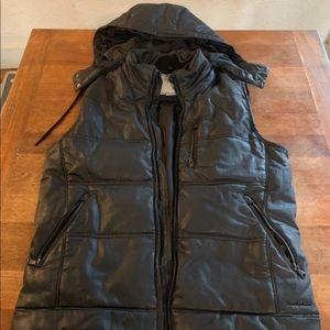Calvin Klein Jeans Black Vest with Detachable Hood